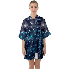 Wallpaper Background Abstract Quarter Sleeve Kimono Robe by Celenk