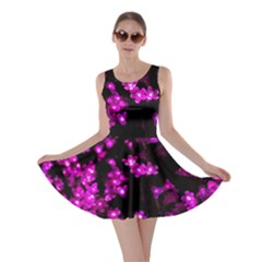Abstract Background Purple Bright Skater Dress