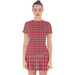 Christmas Wrapping Paper Drop Hem Mini Chiffon Dress by Celenk
