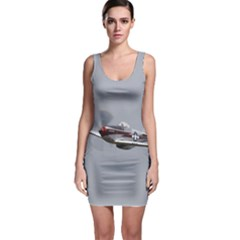 P-51 Mustang Flying Bodycon Dress by Ucco