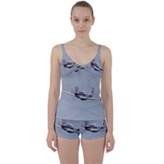P 51 Mustang Flying Tie Front Two Piece Tankini by Ucco