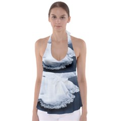 Ice, Snow And Moving Water Babydoll Tankini Top by Ucco