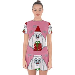 Yeti Xmas Drop Hem Mini Chiffon Dress by Valentinaart