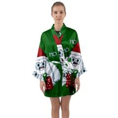 Yeti Xmas Long Sleeve Kimono Robe by Valentinaart