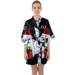 Yeti Xmas Quarter Sleeve Kimono Robe