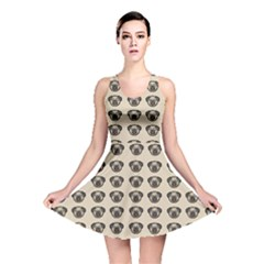Puppy Dog Pug Pup Graphic Reversible Skater Dress by Celenk