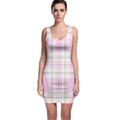 Pink Pastel Plaid Bodycon Dress by allthingseveryone