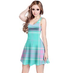 Blue And Pink Pastel Plaid Reversible Sleeveless Dress by allthingseveryone