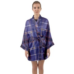 Purple Heather Plaid Long Sleeve Kimono Robe by allthingseveryone