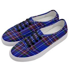Bright Blue Plaid Women s Classic Low Top Sneakers by allthingseveryone