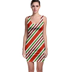 Christmas Color Stripes Bodycon Dress