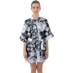 Earth Right Now Quarter Sleeve Kimono Robe