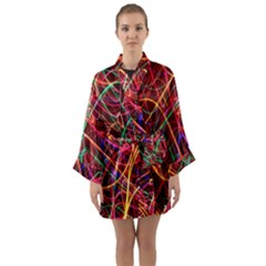 Wave Behaviors Long Sleeve Kimono Robe