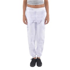 Marble Texture White Pattern Women s Jogger Sweatpants by Celenk