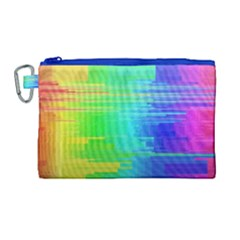 Colors Rainbow Chakras Style Canvas Cosmetic Bag (large) by Celenk