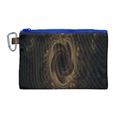 Beads Fractal Abstract Pattern Canvas Cosmetic Bag (large) by Celenk