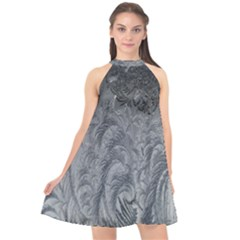 Abstract Art Decoration Design Halter Neckline Chiffon Dress  by Celenk