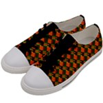 skate board black background Women s Low Top Canvas Sneakers
