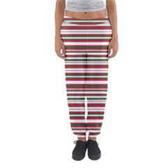 Christmas Stripes Pattern Women s Jogger Sweatpants by patternstudio