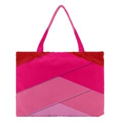 Geometric Shapes Magenta Pink Rose Medium Tote Bag by Celenk