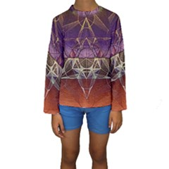 Cube Of Metatrone Diamond Kids  Long Sleeve Swimwear by Cveti