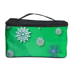 Snowflakes Winter Christmas Overlay Cosmetic Storage Case by Celenk