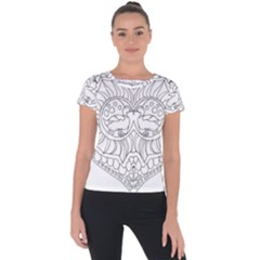 Heart Love Valentines Day Short Sleeve Sports Top  by Celenk