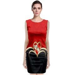 Red Black Background Wallpaper Bg Classic Sleeveless Midi Dress by Celenk