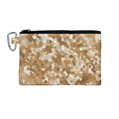 Texture Background Backdrop Brown Canvas Cosmetic Bag (medium) by Celenk