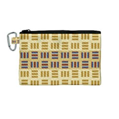 Textile Texture Fabric Material Canvas Cosmetic Bag (medium) by Celenk