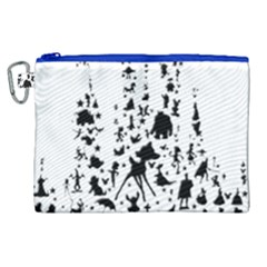 Happiest Castle On Earth Canvas Cosmetic Bag (xl) by SandiTyche