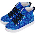Arcturian Calming Grid - Kid s Hi-Top Skate Sneakers View2