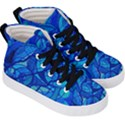 Arcturian Calming Grid - Kid s Hi-Top Skate Sneakers View3