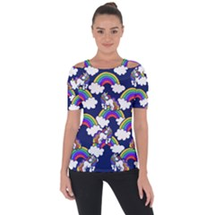 Rainbow Unicorns Short Sleeve Top by BubbSnugg