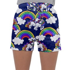 Rainbow Unicorns Sleepwear Shorts by BubbSnugg