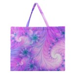 Delicate Zipper Large Tote Bag