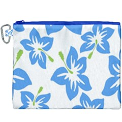 Hibiscus Wallpaper Flowers Floral Canvas Cosmetic Bag (xxxl)
