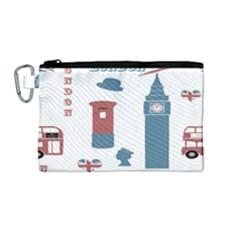 London Icons Symbols Landmark Canvas Cosmetic Bag (medium) by Celenk