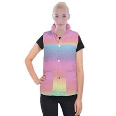 Background Watercolour Design Paint Women s Button Up Puffer Vest by Celenk