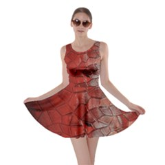 Pattern Backgrounds Abstract Red Skater Dress