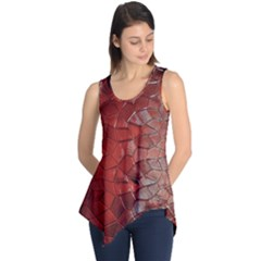 Pattern Backgrounds Abstract Red Sleeveless Tunic by Celenk