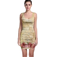 Background Old Parchment Musical Bodycon Dress