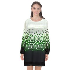 Tech Camouflage 2 Long Sleeve Chiffon Shift Dress  by jumpercat