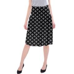 White Cross Midi Beach Skirt by jumpercat