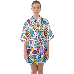 Retro Shapes 01 Quarter Sleeve Kimono Robe by jumpercat