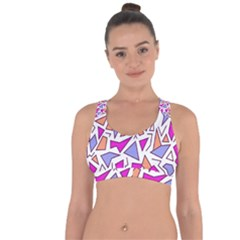 Retro Shapes 03 Cross String Back Sports Bra by jumpercat