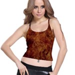 Abstract Flames Fire Hot Spaghetti Strap Bra Top