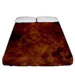 Abstract Flames Fire Hot Fitted Sheet (Queen Size)