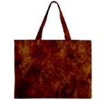 Abstract Flames Fire Hot Zipper Mini Tote Bag