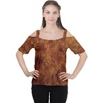 Abstract Flames Fire Hot Cutout Shoulder Tee